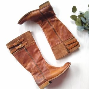 KORK EASE • Levin tall brown leather riding boots